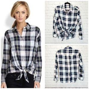 Equipment femme plaid cotton long sleeve shirt